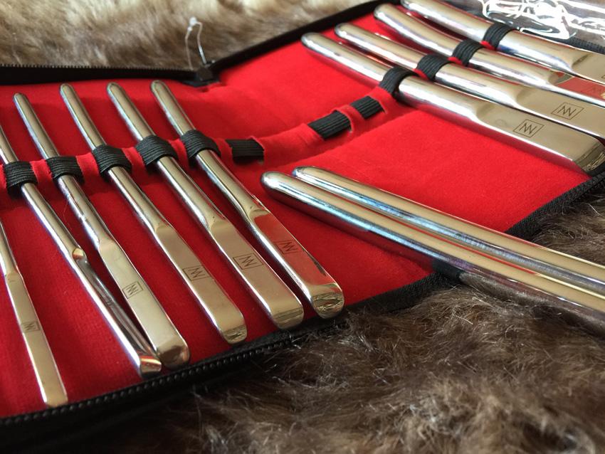 Dilator set met plat handvat – 14 stuks