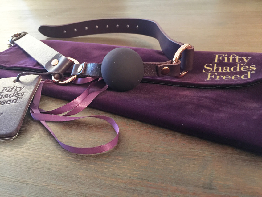 Fifty Shades Freed leren ball gag