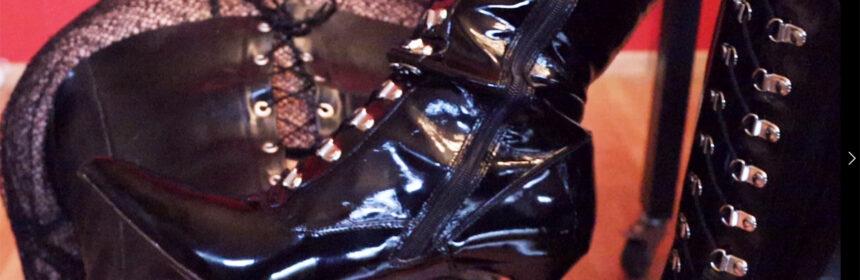 Humaliation, boots, mask & CBT